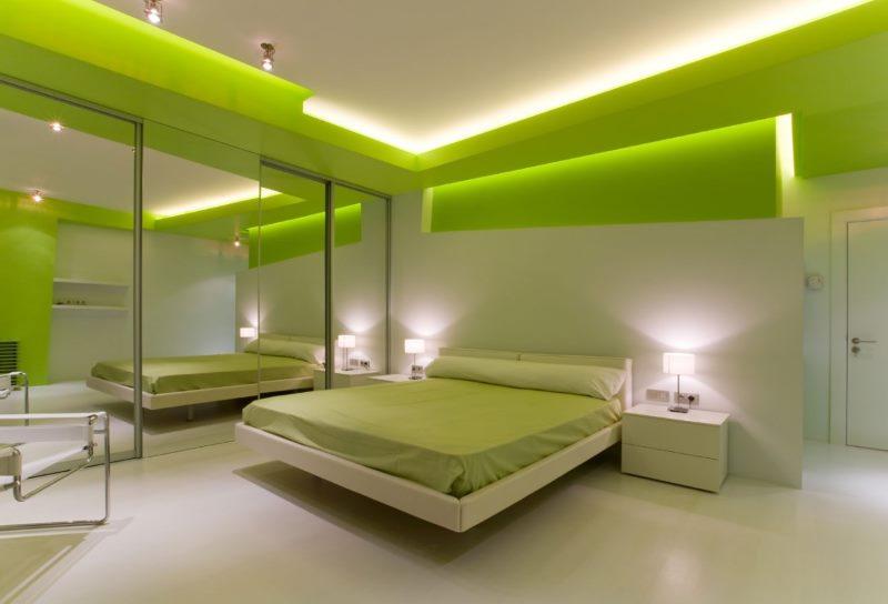 High tech bedroom interior