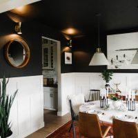 Utilisation inhabituelle du noir à l'intérieur de la cuisine