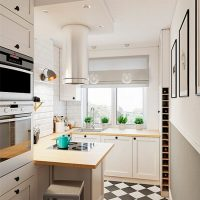 Appartement de ville design de cuisine étroite