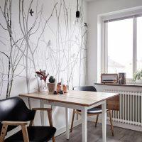 Table à manger avec plan de travail en bois
