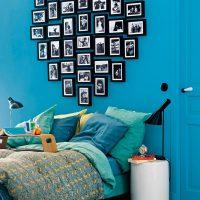 Zila siena ar iecienītākajām fotogrāfijām