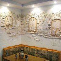 Sienu apdare ar teksturētu apmetumu