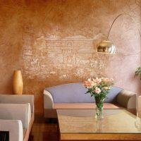 Tekstūru tepe sienas dekorācijā