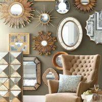 Dažādas formas un izmēra spoguļi