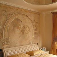 Sienu krāsošana guļamistabā