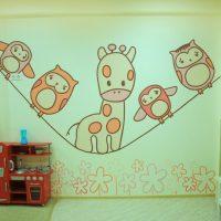 DIY sienas dekors bērnu istabā