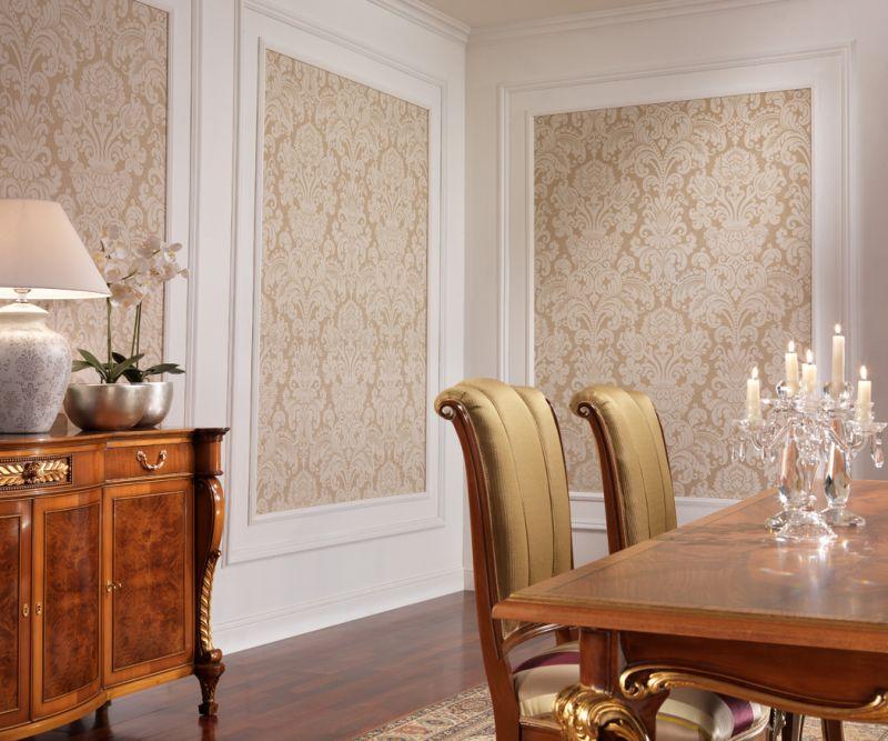 Sienas dekoru klasisks viesistabas audums