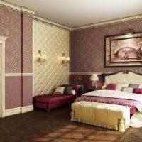 Intérieur de chambre de style classique
