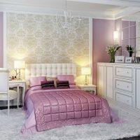 Chambre murale lilas classique