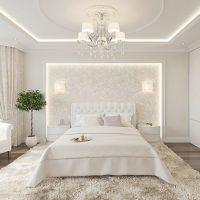 Plancher gris dans une chambre blanche