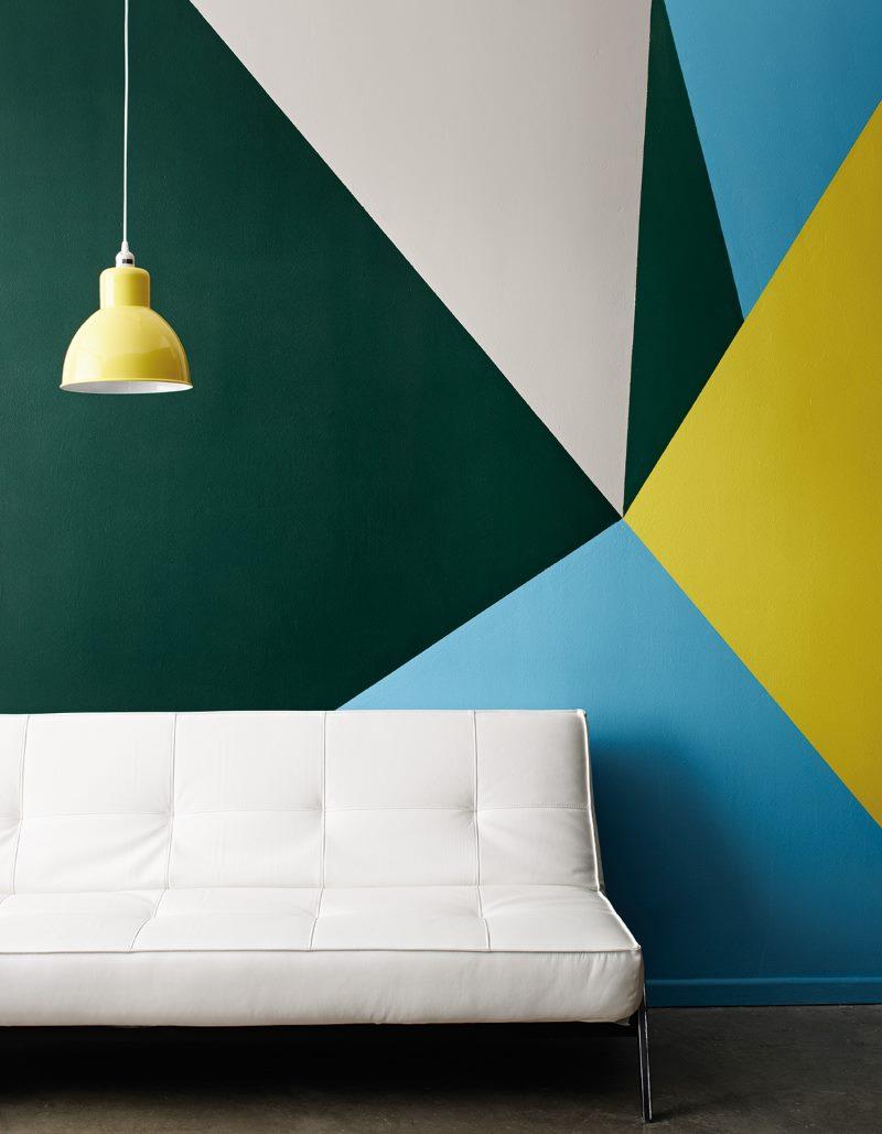 DIY viesistabas sienu apdare