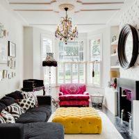 Salon lumineux dans un style moderne