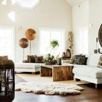 Table basse en bois lamellé