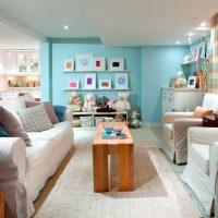 La conception de la zone de loisirs dans la cuisine-salon