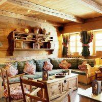 intérieur de salon de style campagnard