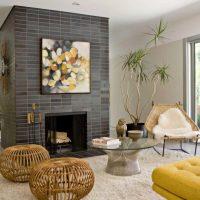 Concevez un salon avec une cheminée au centre de la pièce