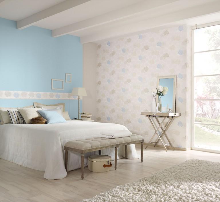 Intérieur de la chambre de la fille aux couleurs pastel douces