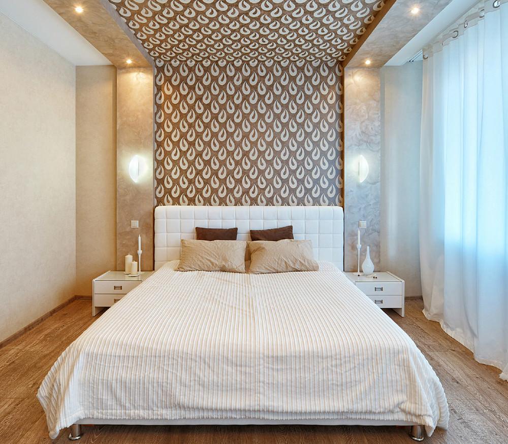 Niche sur le mur de la chambre à coucher, roulant vers le plafond