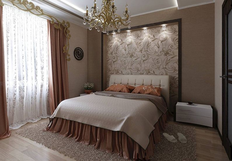 Finir une niche dans la chambre avec du papier peint