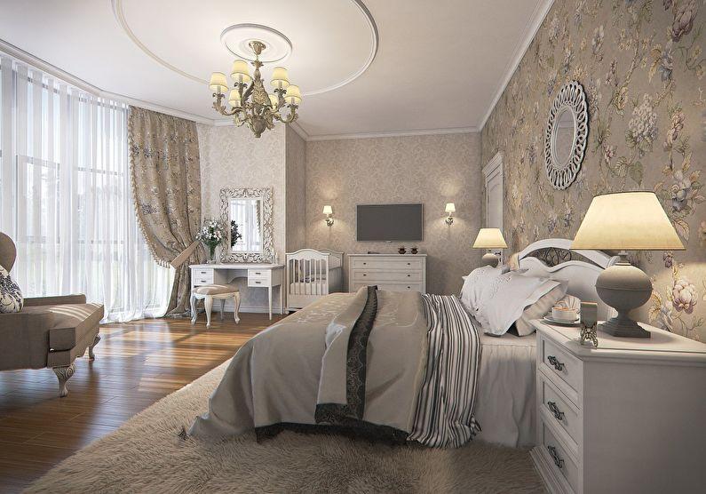 Intérieur de chambre à coucher de couleur pastel