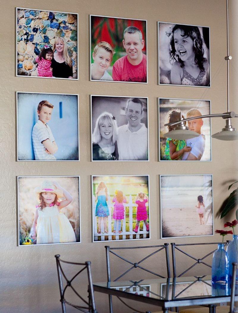Virtuves-ēdamistabas sienas dekoru fotogrāfijas