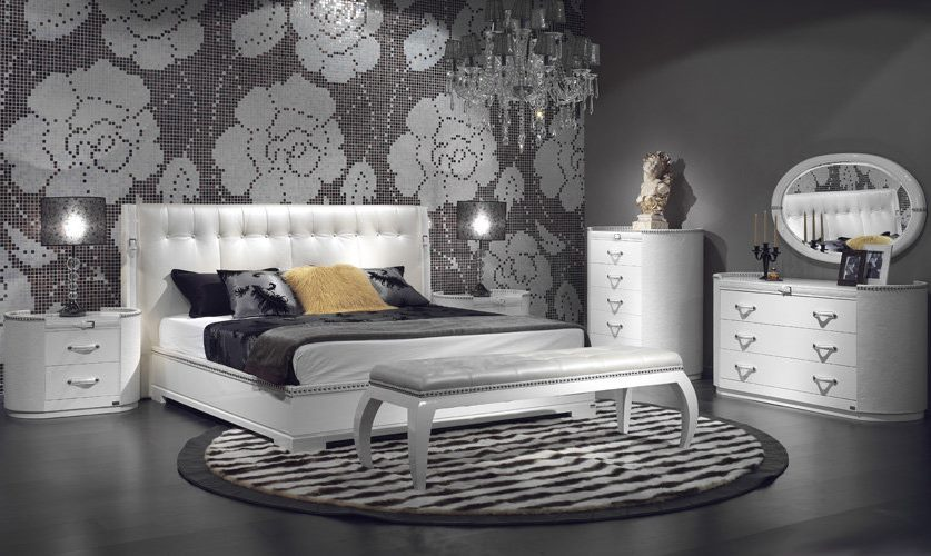 Intérieur d'une chambre moderne dans des tons de gris