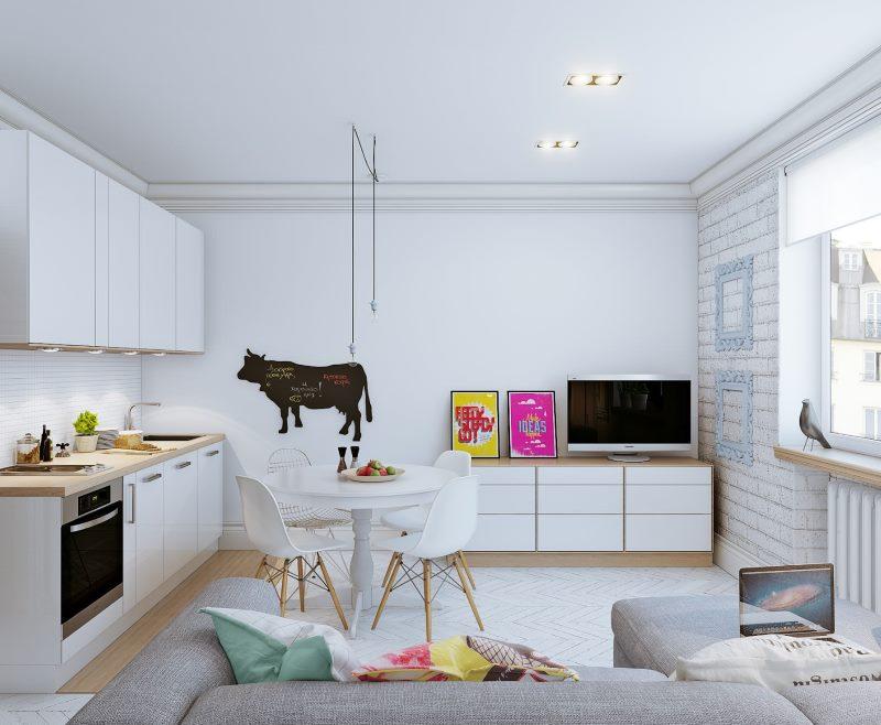 Monolocale Di Design Di 25 Mq M In Stili Di Design Moderno