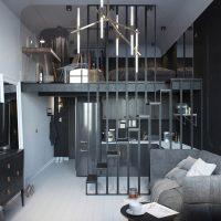 Duplex apartman szürke árnyalataiban
