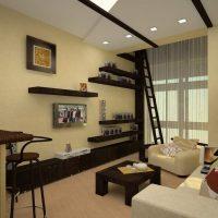 Salon haut plafond