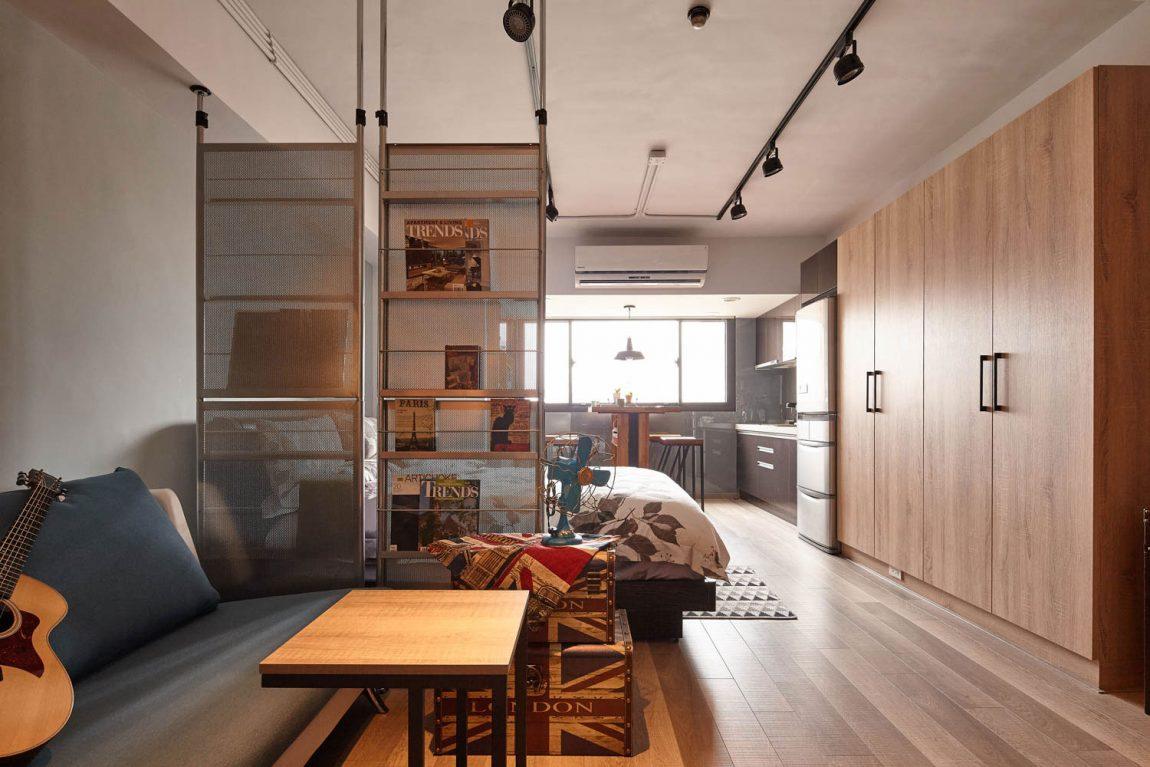 Zonage studio dans un style loft