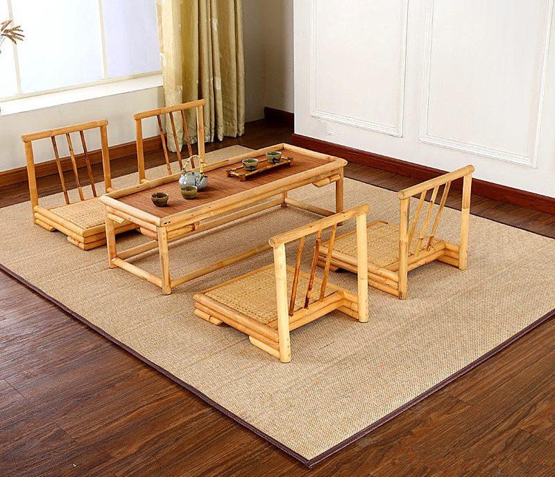 Japāņu stila bambusa paklājs