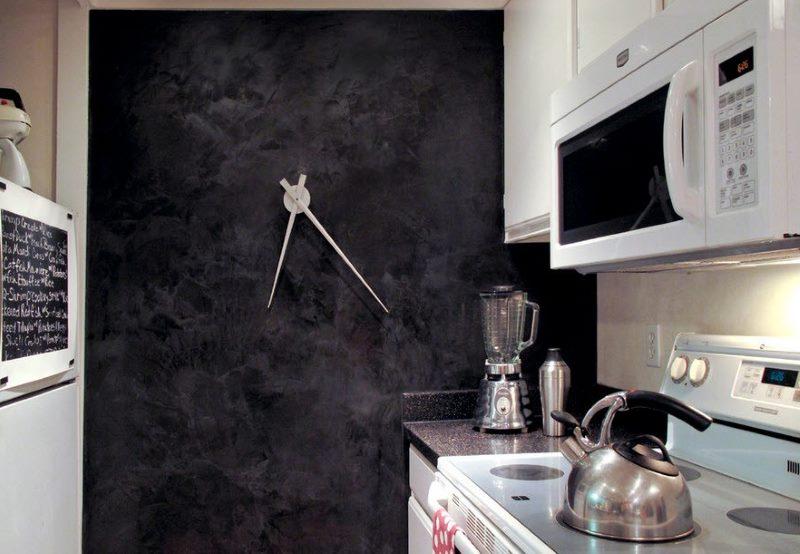 Décoration murale de cuisine avec horloge originale