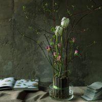 Vase de sticks pour un bouquet sec