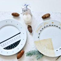 Décor d'assiettes en porcelaine bricolage