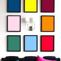 Décor simple en papier de couleur