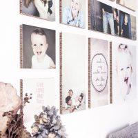 Photos volumétriques sur le mur d'un salon