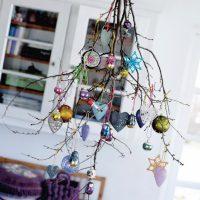 Décor de Noël de brindilles sèches