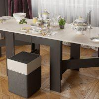 Table à manger pliante en gris