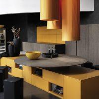 Conception de la salle à manger de style futuriste
