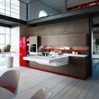 Concevez une cuisine moderne dans un style inhabituel