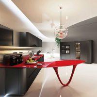 Table rouge en option