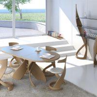Conception de la salle à manger de style moderne