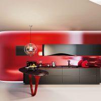 Cuisine rouge minimaliste