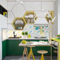 Set de cuisine en forme de nid d'abeilles