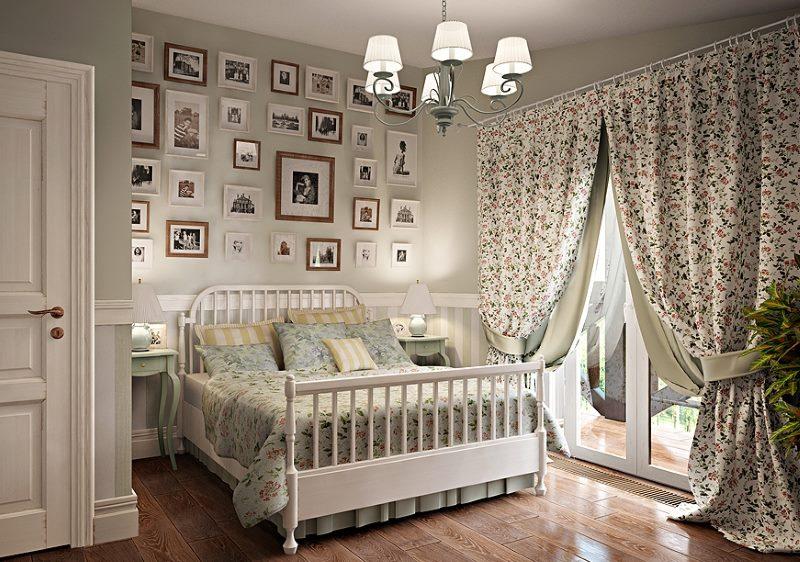 Provansas stila guļamistabas dizains