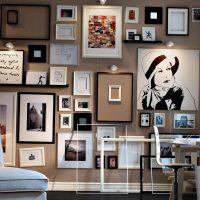 Dzīvojamās istabas foto siena