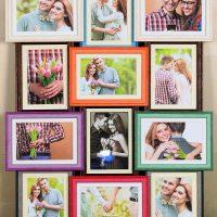 Daudzkrāsaini ģimenes fotoattēli