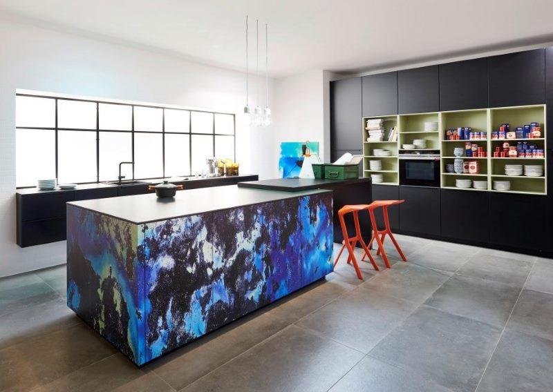 Intérieur de cuisine de style espace
