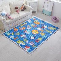 Zils paklājs bērnu istabā
