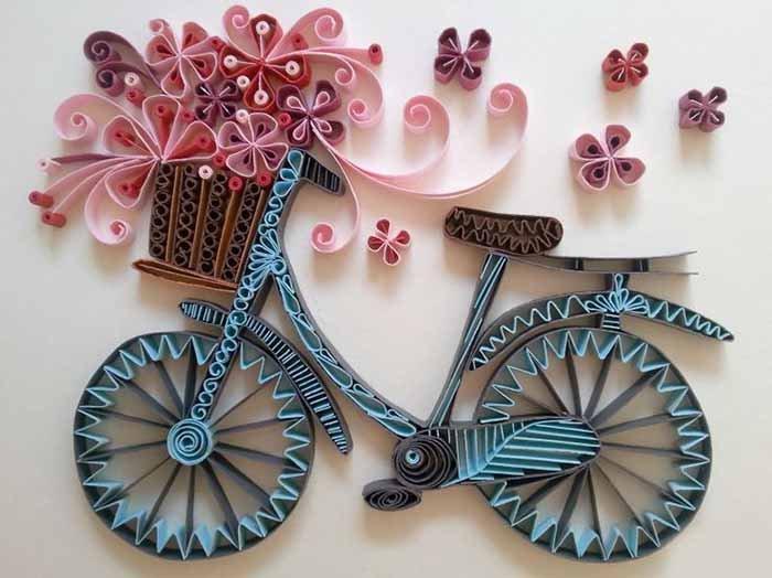 Vélo quilling à faire soi-même